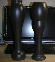 """Two new brown resin vases 15"""" H"""