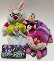 Disney Alice in Wonderland plush lot, cheshire cat wallet