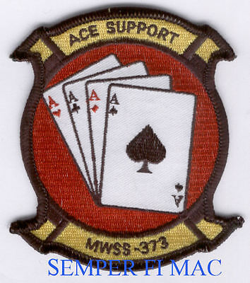 MWSS-373 US Marine Wing Support PATCH MR ACES SPADE US MARINES VETERAN MCAS MAG