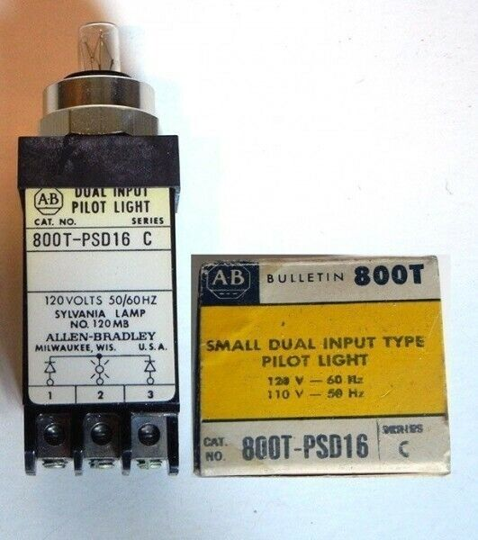 (NEW in BOX) ALLEN BRADLEY Small Dual Input PILOT LIGHT / 800T-PSD16 800TPSD16