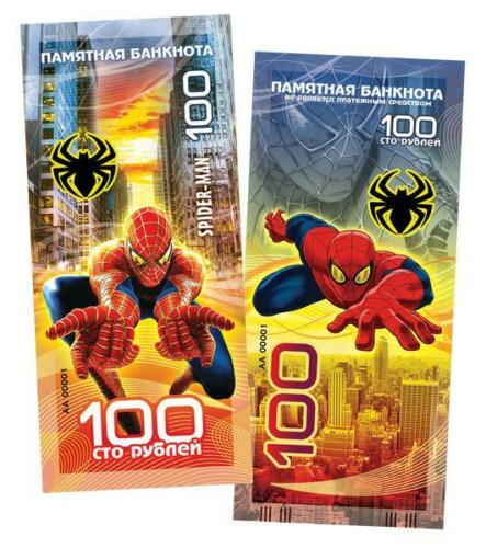New! Russia banknote 100 rubles 2019 Spider-Man. superhero. Peter Parker.