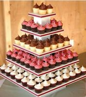 Wedding cakes and cupcake tiers