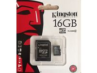 16GB Micro SD Card with Adaptor