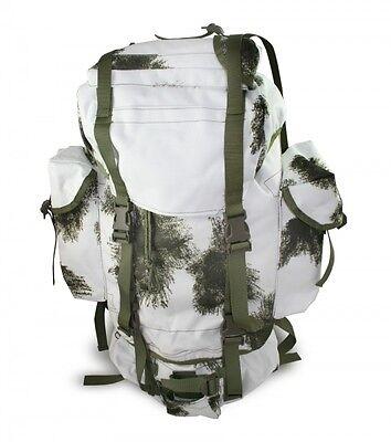 New German Military Surplus Snow Camo Wilderness Survival Backpack Gear Bag