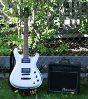 Ibanez Gio Like New with Randall Practise Amp priced to sell