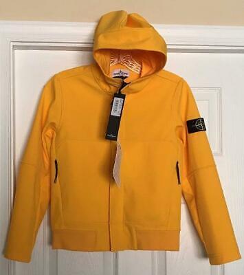 NWT Boys Girls STONE ISLAND Soft Shell Hooded Zip Front Jacket sz 10 Junior