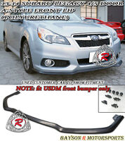13-14 Legacy A Style Front Lip (Urethane) fit US-Spec Front Bump