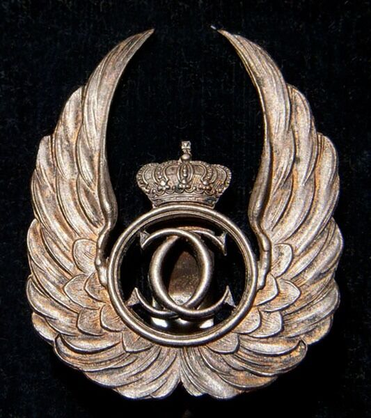 Very Rare Mid-1930s Romanian Air Force Observer Badge in Original Case