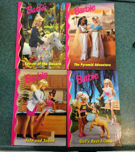28-book set of Barbie hardcover books, like-new condition