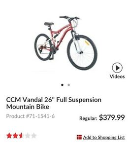 21 speed Bicycle CCM - 2016.  Kingston Kingston Area image 1