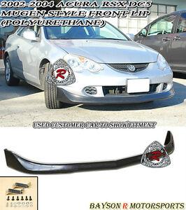 02-04 Acura RSX DC5 Mu-gen Style Front Lip (Polyurethane)