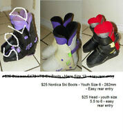 Two pairs of ski boots - from $25