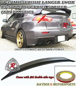 08+ EvoX Mitsubishi Lancer Evolution X (Evo 10) RS duck spoiler