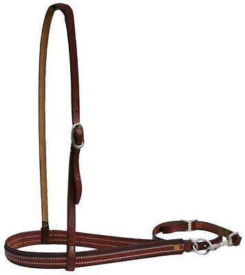 Western Saddle BURGUNDY Leather Noseband with Removable Tie Down NEW HORSE TACK