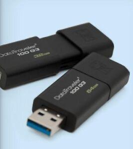 Kingston 32GB DataTraveler 100 G3 USB 3.0 Flash Drive