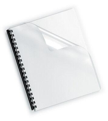 100 Deckelfolien A4, transparent-klar, 200mic, Klarsichtfolien PP, Deckblatt