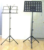 Stands: for Mike, sax, cello, guitar, violin, sheet music