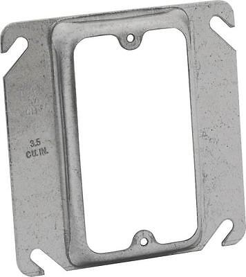 Lot 10 Raco 8772 Metal 4 1 Gang Raised Square Electrical Box Covers 6151427