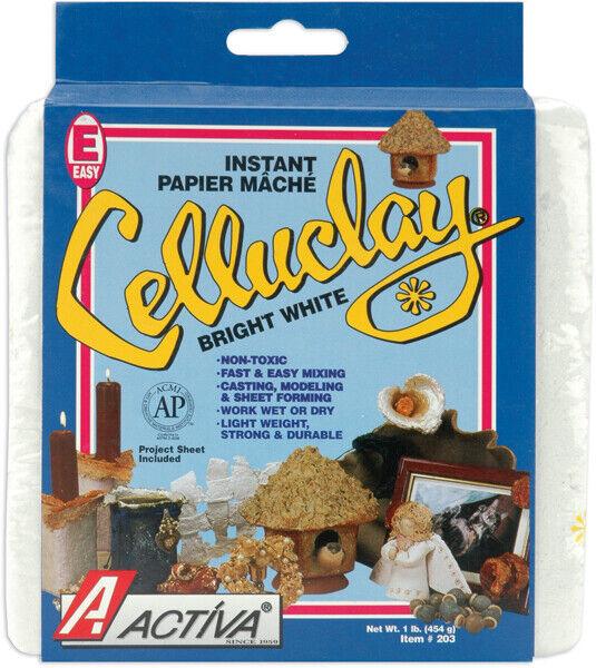 Activa-CelluClay Instant Paper-Mache 1lb-Bright White