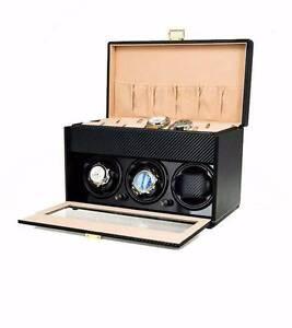 Luxury Automatic Watch Winder Carbon fiber wooden watch box Auburn Auburn Area Preview