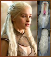 """BRAND NEW Deluxe Games of Thrones Blonde """"Khaleesi"""" Cosplay Wig"""