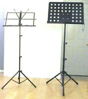 Stands: for Mike, keyboard, sax, cello, guitar, violin, music