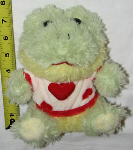 Green Frog with Red Heart Shirt