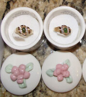 2 Brand New Real Jade size 8/9 rings with gift box $10 each