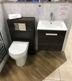 Ex-Display Design wall hung basin unit & WC set