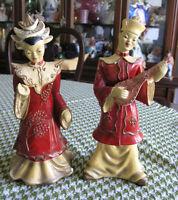 Oriental Chalkware Figurines (Circa 1940-50)