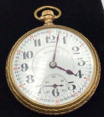 Antique Gold Elgin Illinois Watch Co Pocket Watch 10K GP