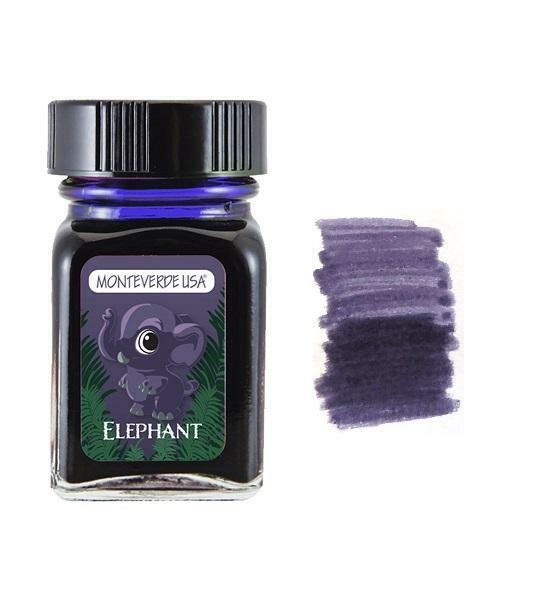 Monteverde 30ml Fountain Pen Ink Bottle, Jungle Collection, Elephant Collectibles