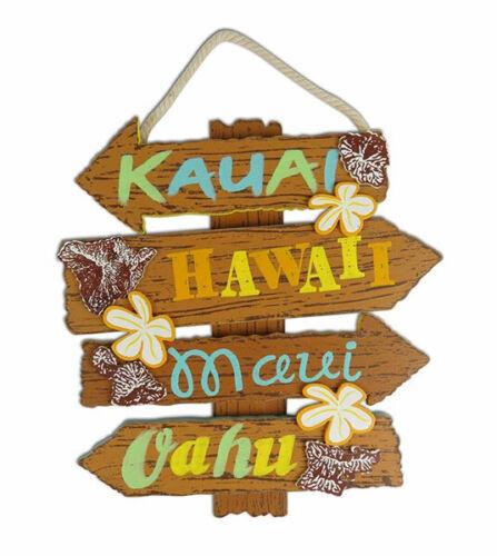Hawaiian Style Hanging Wall Wood Sign Island Names Signs Hawaii Home Bar Decor N