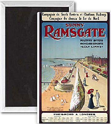 Sunny Ramsgate (old rail ad.) fridge magnet   (se)  REDUCED