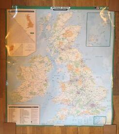 British Isles wall map