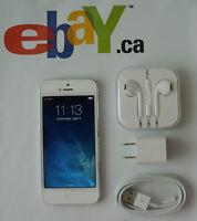 WIND Apple iPhone 5 16GB LTE White Factory Unlocked Warranty M73