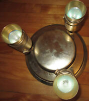 Three lamps set: ceiling, wall and table lamps