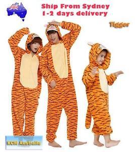 Orange Tiger Onesie Costume Pajama Party Wear North Melbourne Melbourne City Preview