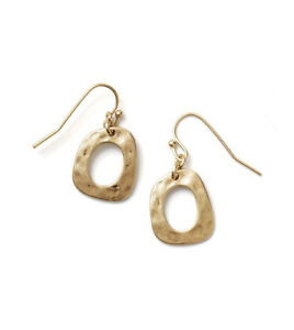 Authentic Lia Sophia Gold Matte Dewy Earrings