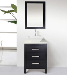"""24"""" Solid Wood Bathroom Vanity with Mirror and Faucet"""