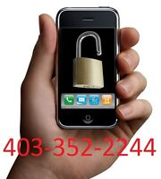 Unlock all Phones & iPhone 3G,3GS,4,4S & 5 @ 403-352-2244