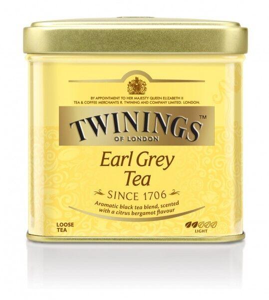 Twinings Earl Grey Schwarzer Tee lose Schwarztee in Metal Dose 500 g