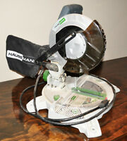 "Hausmann 8 1/4"" compound mitre saw with laser & dust bag"