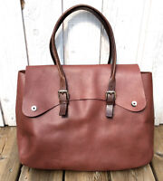 M0851 Large Brown Leather Equestrian Bag