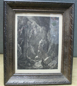 Original Etching print illustration by Gustav Dore'