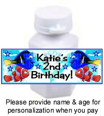 30 Finding Dory Birthday Party Bubble Labels Stickers Nemo Baby Shower - Nemo Baby Shower