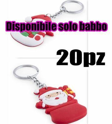 20 Piezas Llavero Navidad PVC Boda Natale Y Muñeco de Nieve De...
