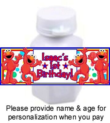 30 Elmo Birthday Party Baby Shower Bubble Labels Stickers Favors Elmo's World](Baby Elmo Party Supplies)