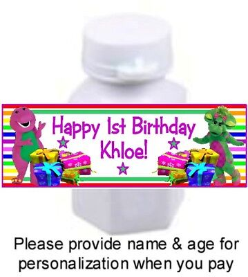 Barney And Friends Party Supplies (30 Barney And Friends Birthday Party Bubble Labels Stickers Baby Bop Baby)