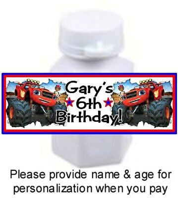 30 Blaze And The Monster Machines Trucks Birthday Party Mini Bubbles Stickers - Monster Truck Party Supplies